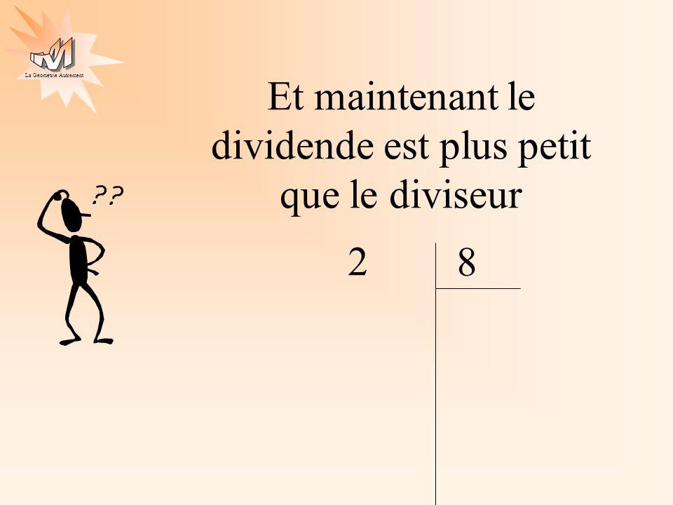 La Géométrie Autrement Et maintenant le dividende est plus petit que le diviseur 2 8