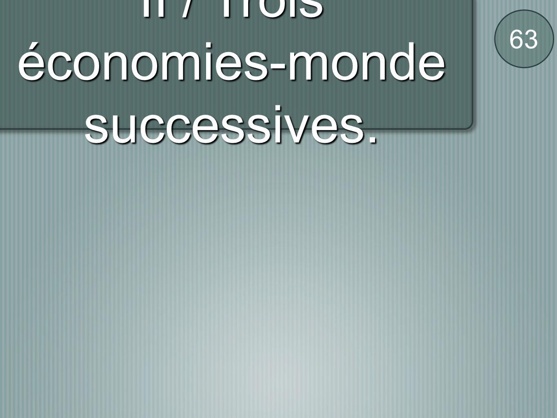 II / Trois économies-monde successives. 63