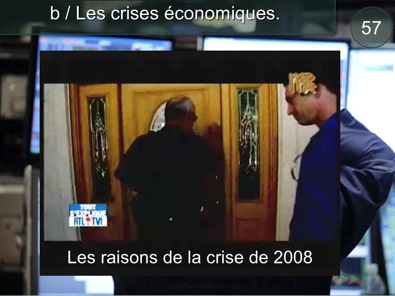57 b / Les crises économiques. Les raisons de la crise de 2008