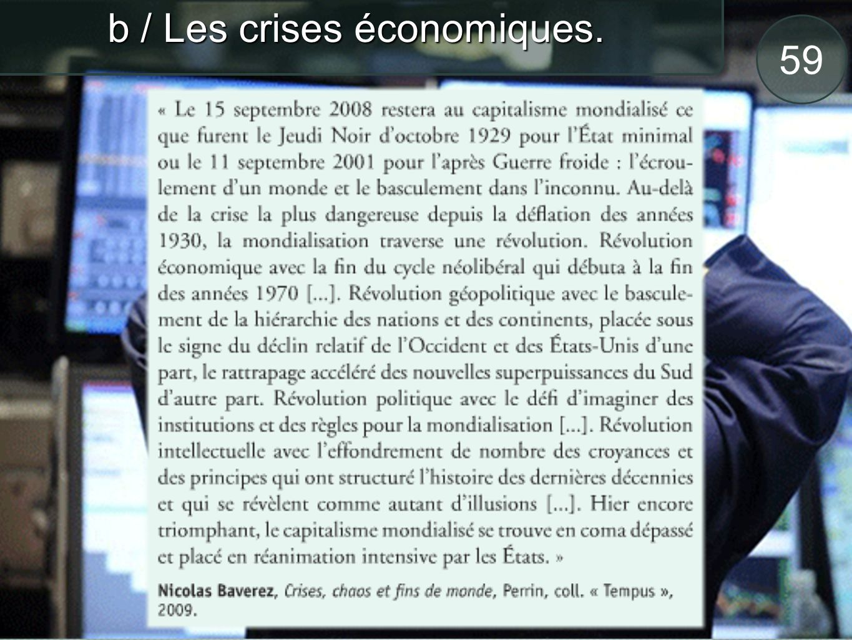 60 c / Les réponses à la crise.Refusent lintervention de lÉtat dans léconomie.