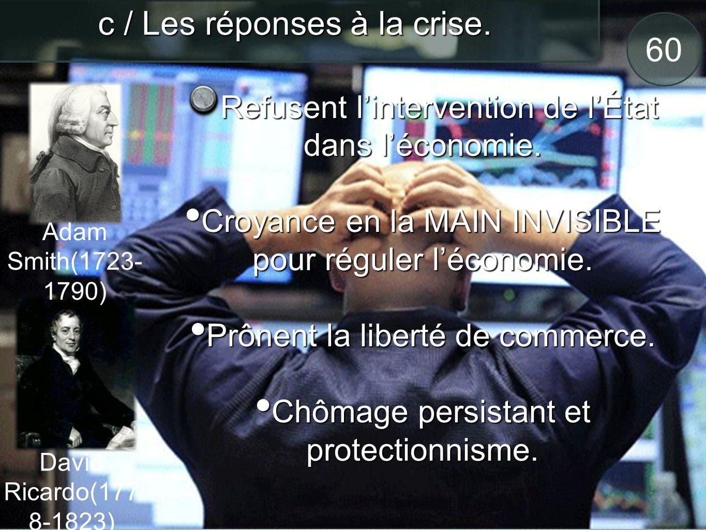 61 c / Les réponses à la crise.