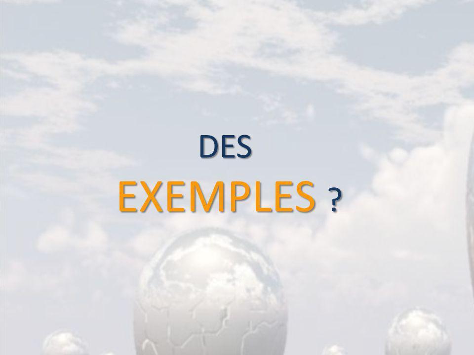DES EXEMPLES ?