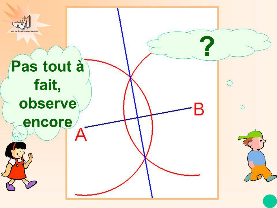 Les mathématiques autrement Pas tout à fait, observe encore. ?