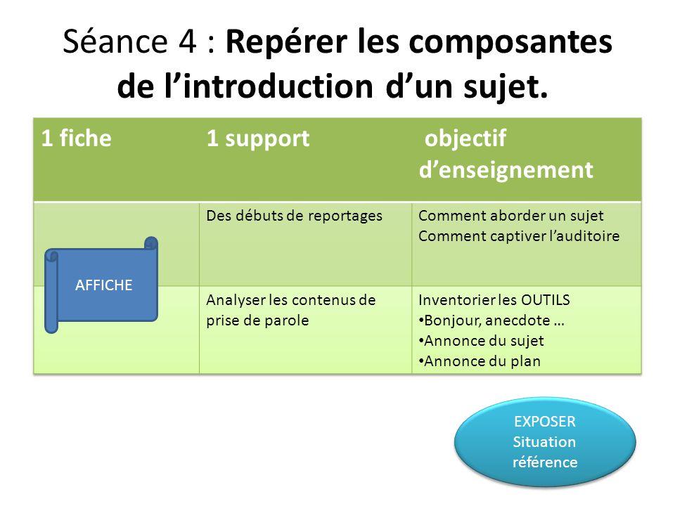 EXPOSER Situation référence EXPOSER Situation référence AFFICHE