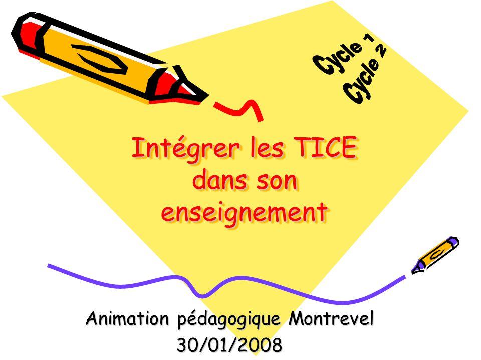 Intégrer les TICE dans son enseignement Animation pédagogique Montrevel 30/01/2008