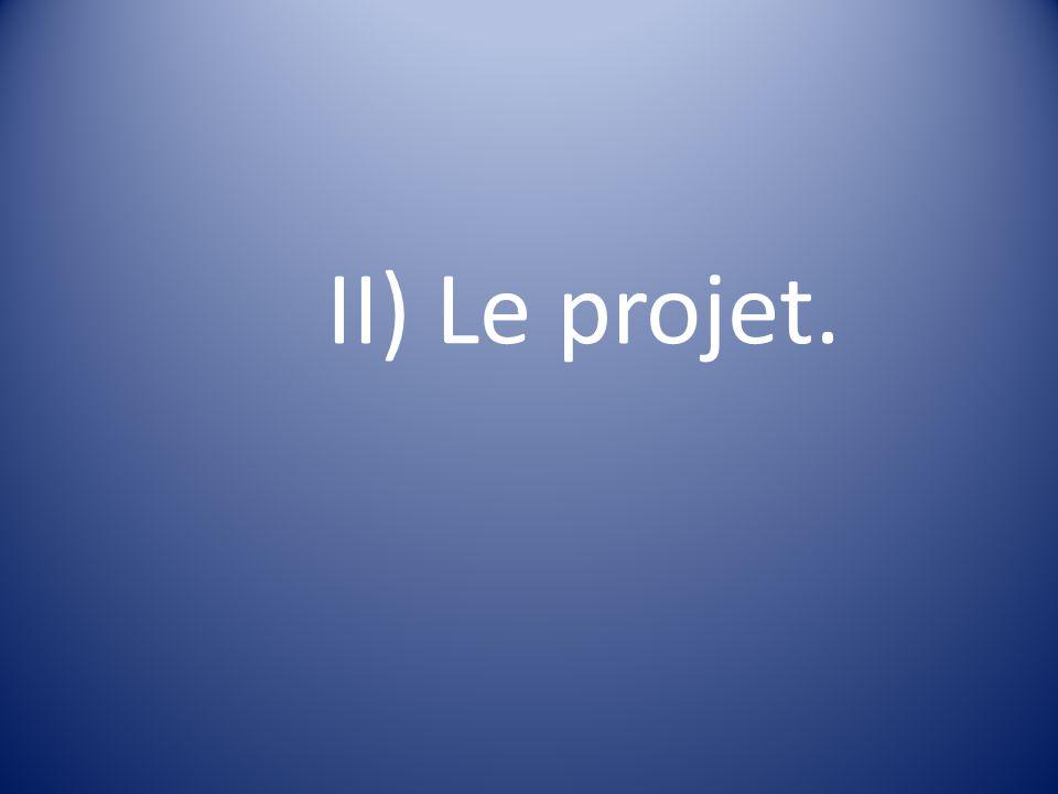 II) Le projet.