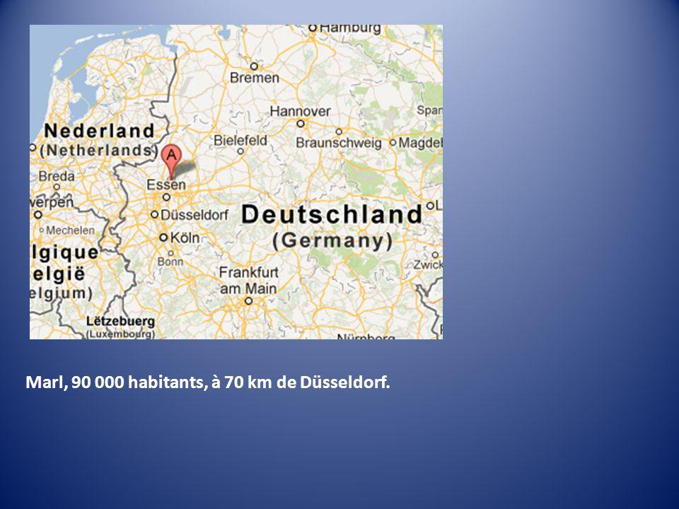Marl, 90 000 habitants, à 70 km de Düsseldorf.