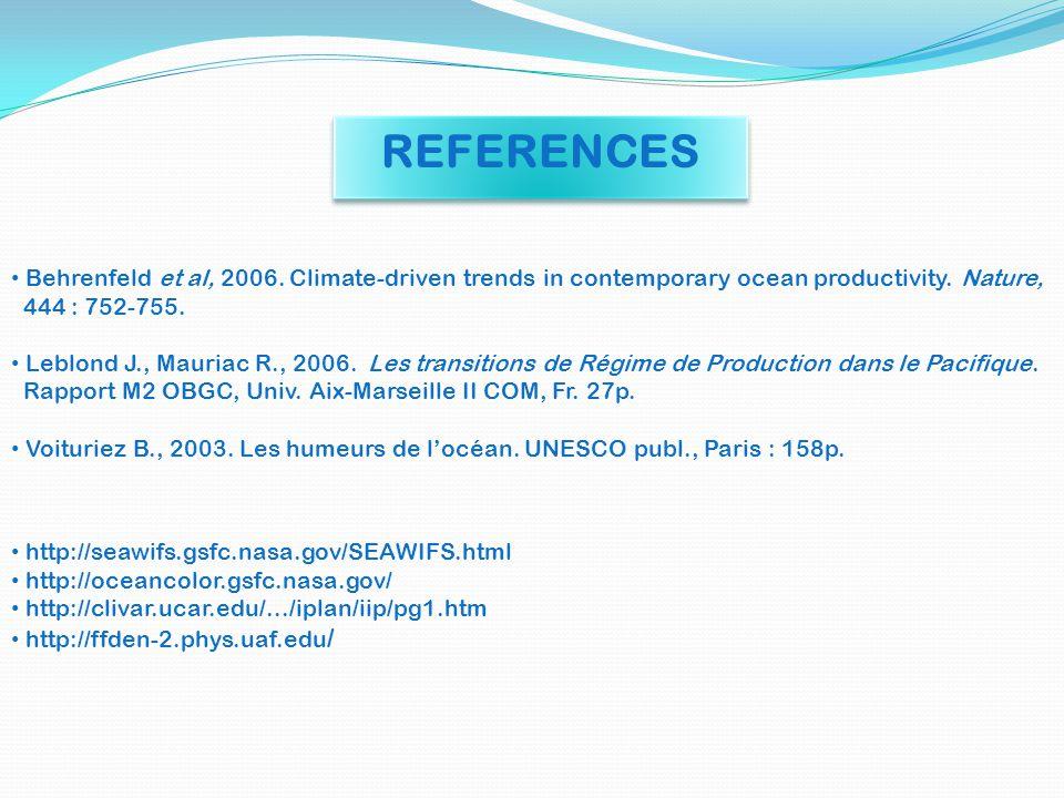 http://seawifs.gsfc.nasa.gov/SEAWIFS.html http://oceancolor.gsfc.nasa.gov/ http://clivar.ucar.edu/.../iplan/iip/pg1.htm http://ffden-2.phys.uaf.edu /