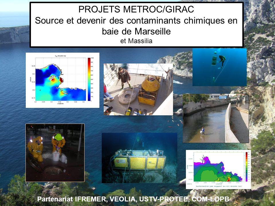 Partenariat IFREMER, VEOLIA, USTV-PROTEE, COM-LOPB PROJETS METROC/GIRAC Source et devenir des contaminants chimiques en baie de Marseille et Massilia