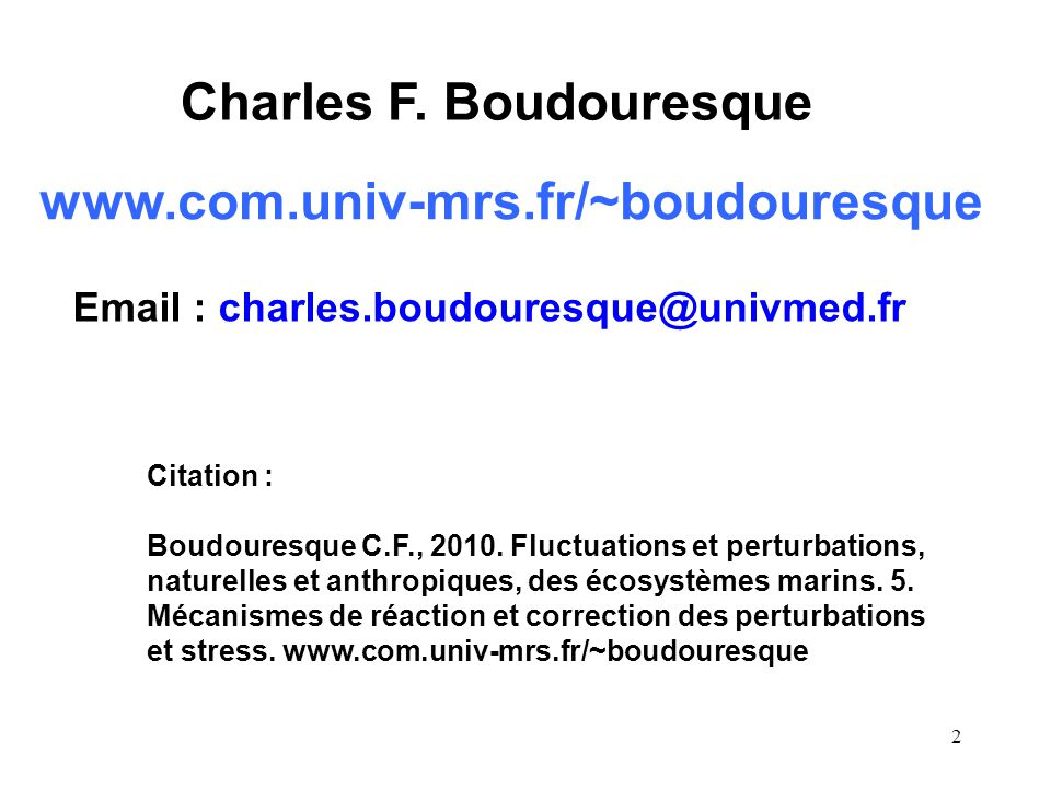 3 1.Introduction 2. Causes des fluctuations naturelles pluriannuelles 2.1.