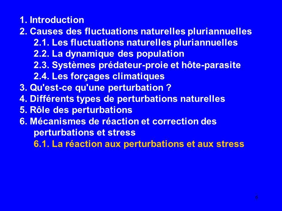 6 1.Introduction 2. Causes des fluctuations naturelles pluriannuelles 2.1.