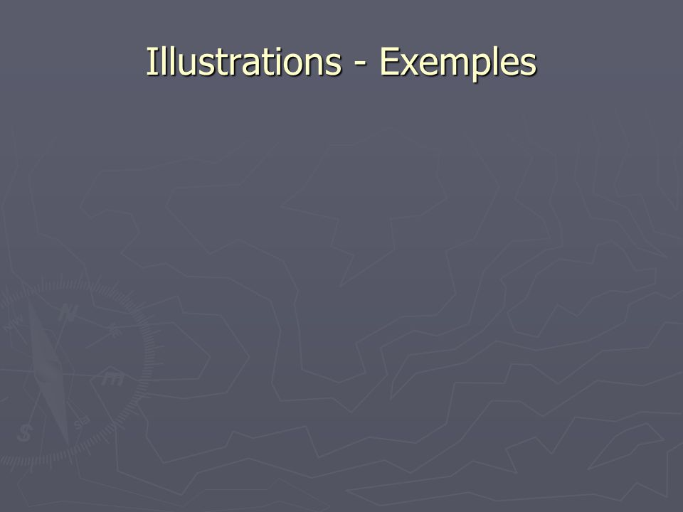 Illustrations - Exemples