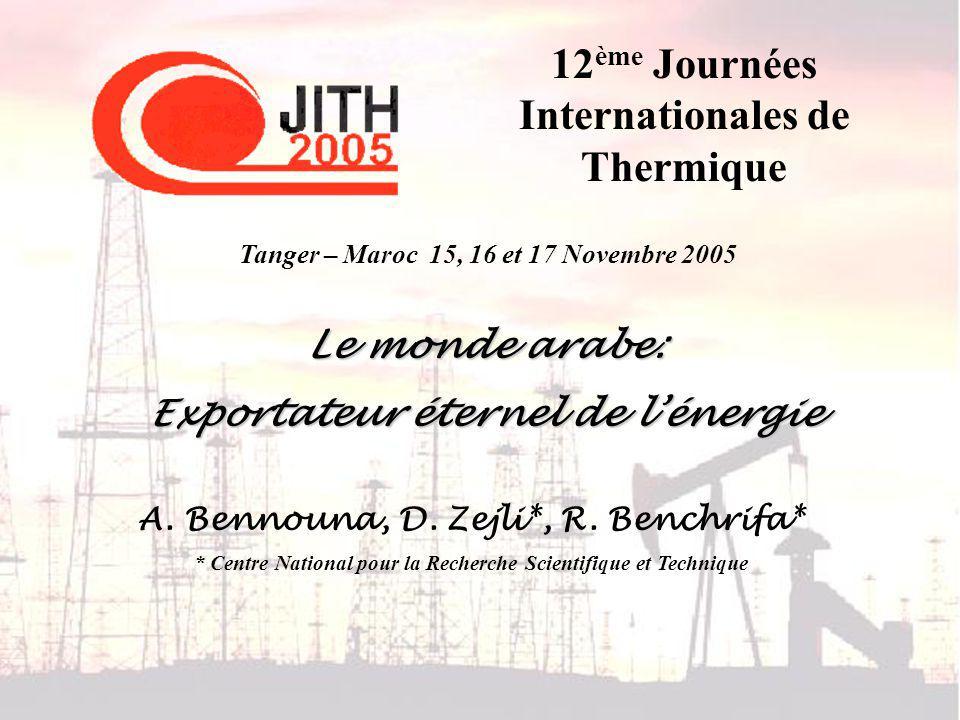 Tanger – Maroc 15, 16 et 17 Novembre 2005 Laugmentation de la température à la surface de la terre
