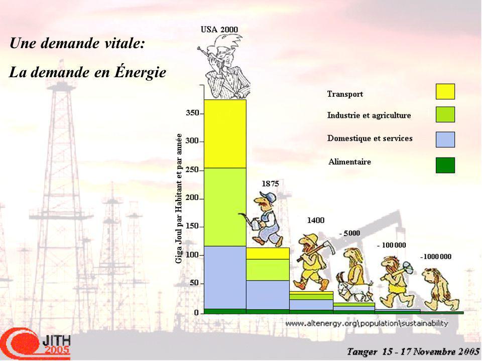Une demande vitale: La demande en Énergie