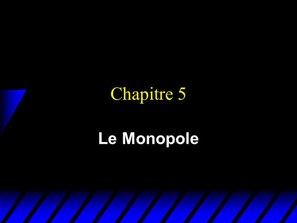 Chapitre 5 Le Monopole
