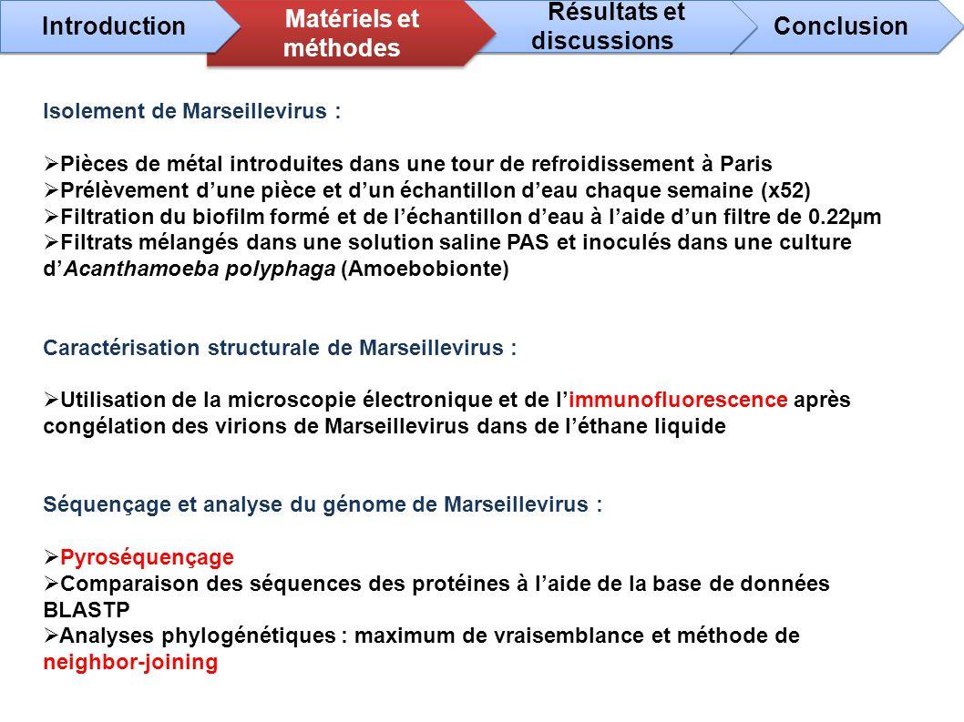 Isolement de Marseillevirus : Pièces de métal introduites dans une tour de refroidissement à Paris Prélèvement dune pièce et dun échantillon deau chaq
