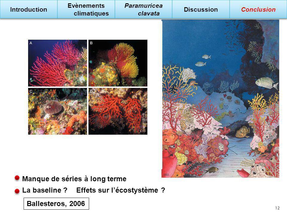 Manque de séries à long terme Effets sur le cycle de vie ? Survie des larves ? Metapopulations ? Effets sur lécostystème ?La baseline ? Ballesteros, 2