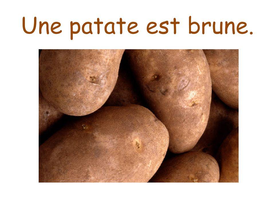 Une patate est brune.