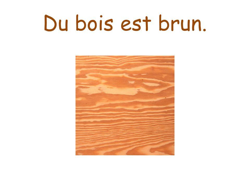 Du bois est brun.