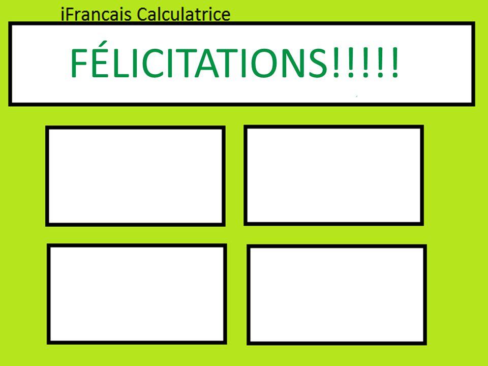 FÉLICITATIONS!!!!!