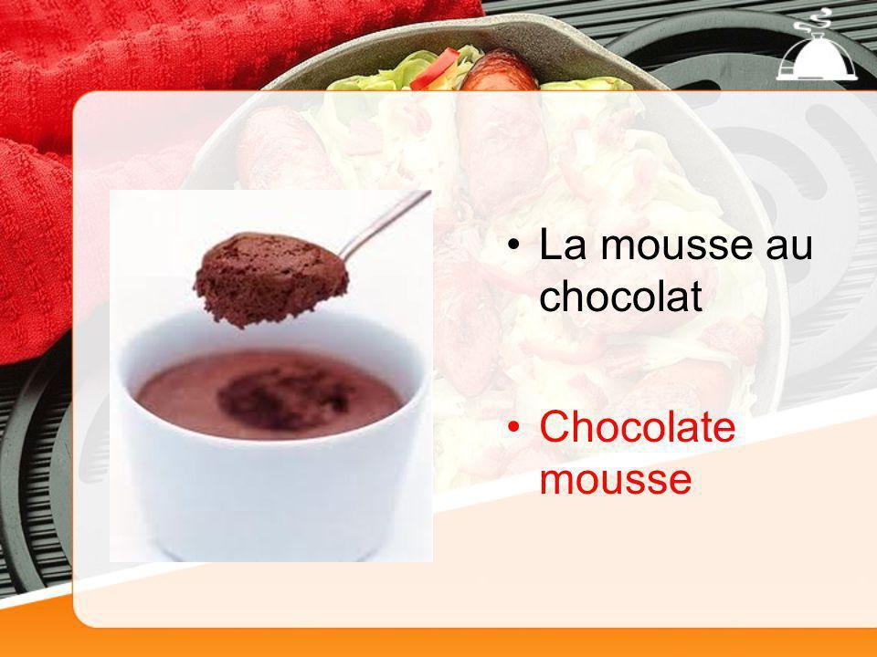 La mousse au chocolat Chocolate mousse