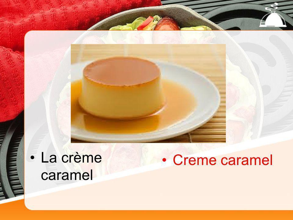 La crème caramel Creme caramel
