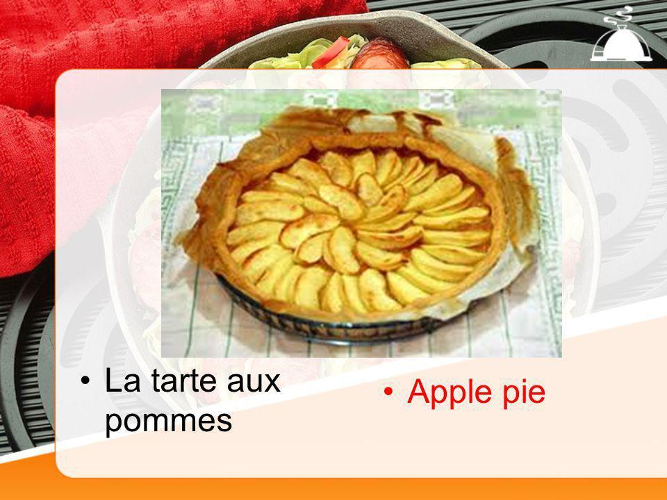 La tarte aux pommes Apple pie