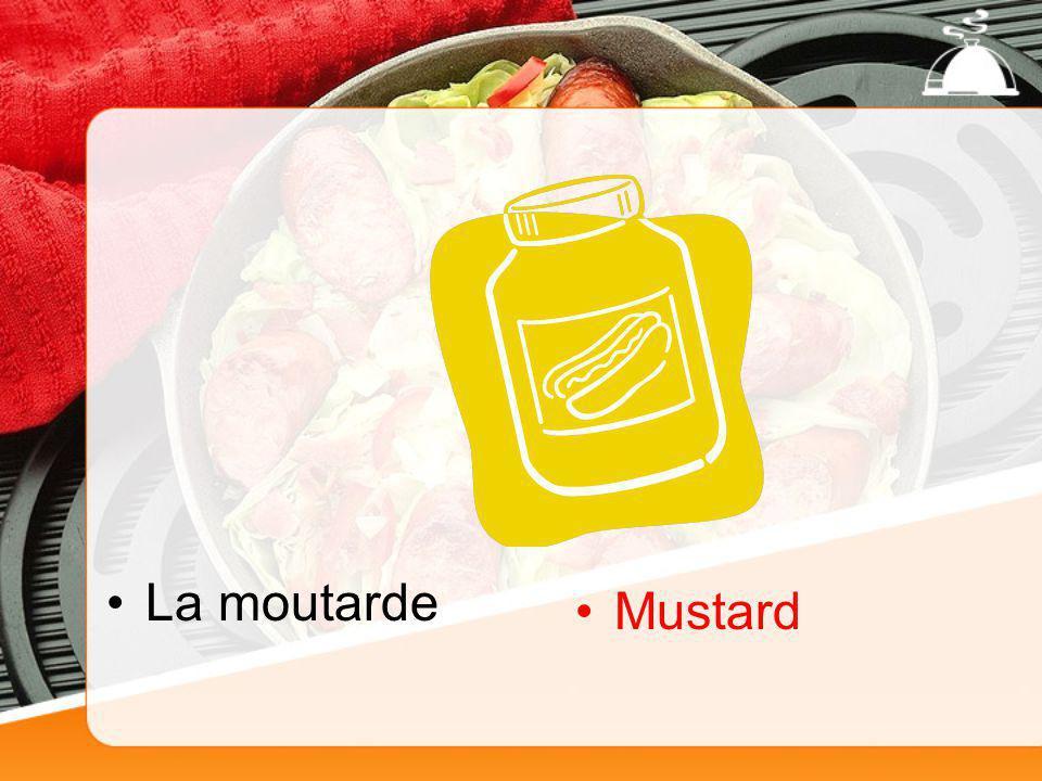 La moutarde Mustard