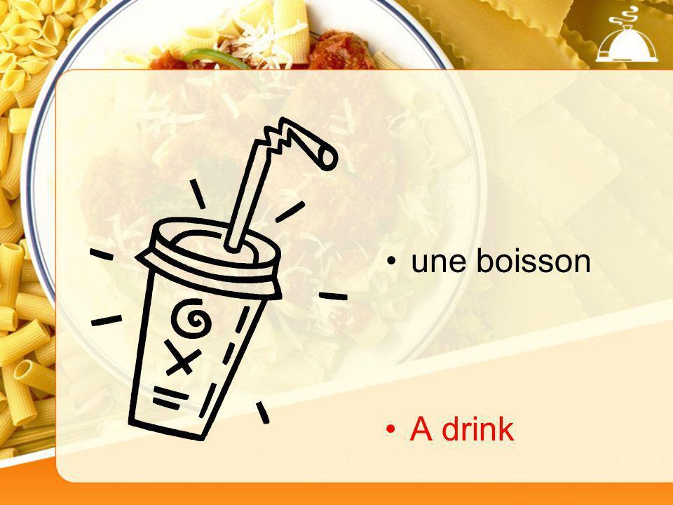 une boisson A drink