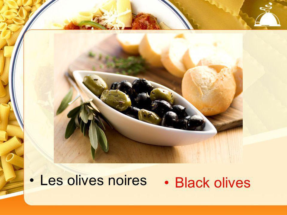 Les olives noires Black olives