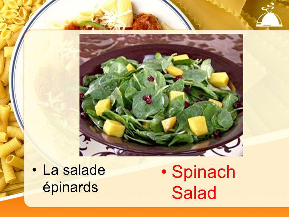 La salade épinards Spinach Salad