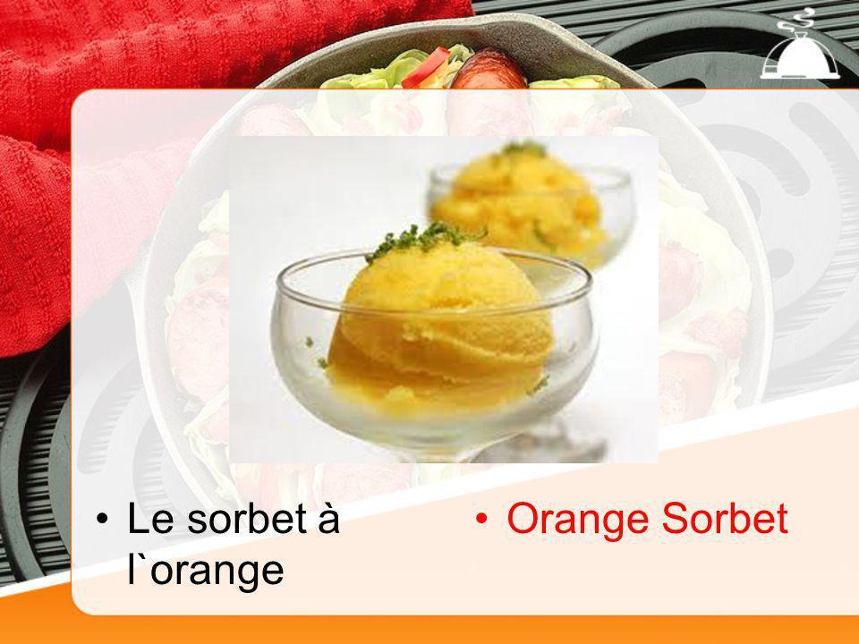 Le sorbet à l`orange Orange Sorbet