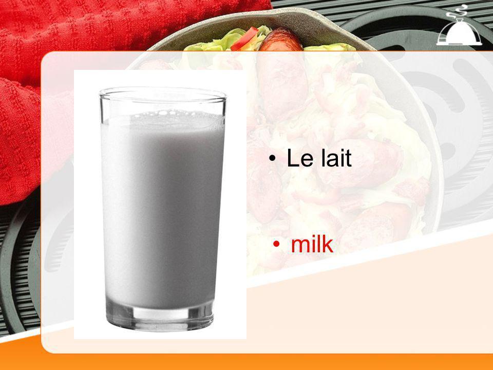 Le lait milk