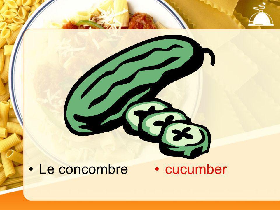 Le concombrecucumber