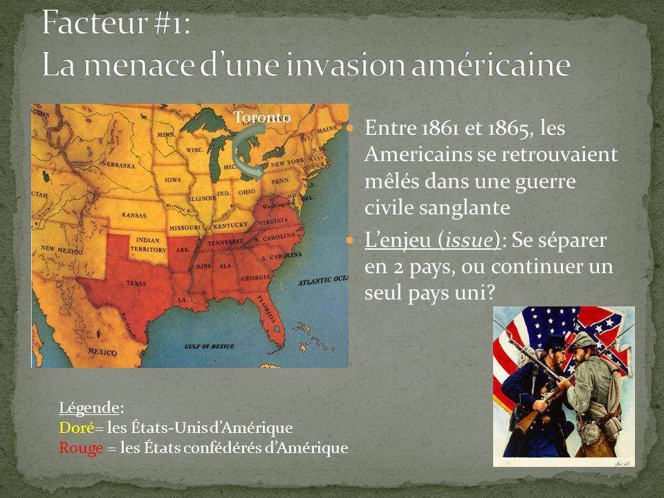Entre 1861 et 1865, les Americains se retrouvaient mêlés dans une guerre civile sanglante Lenjeu (issue): Se séparer en 2 pays, ou continuer un seul pays uni.
