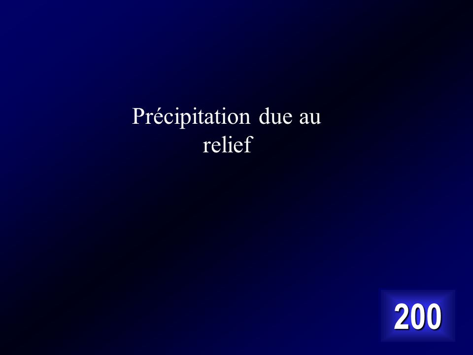 Answer… Cest la sorte de précipitation vue ici