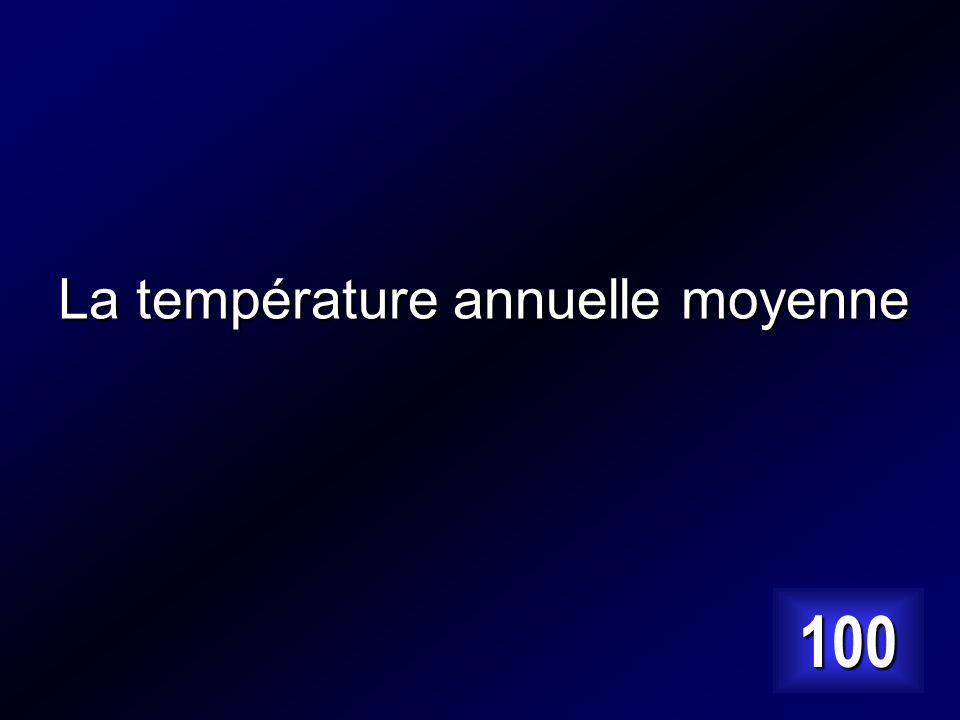 La somme des 12 températures mensuelles moyennes divisée par 12. Answer…