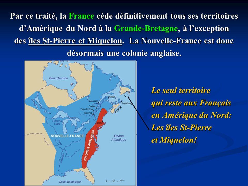 Le traité laisse 18 mois aux Canadiens pour quitter la colonie et retourner en France.