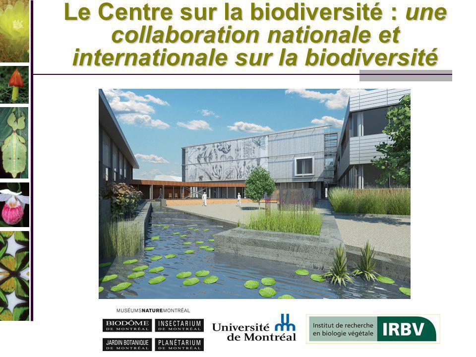 Le Centre sur la biodiversité RECHERCHE TRANSFERT DE CONNAISSANCES FORMATION DE LA RELÈVE CONSERVATION VALORISATION DES COLLECTIONS SENSIBILISATION ÉDUCATION DU PUBLIC