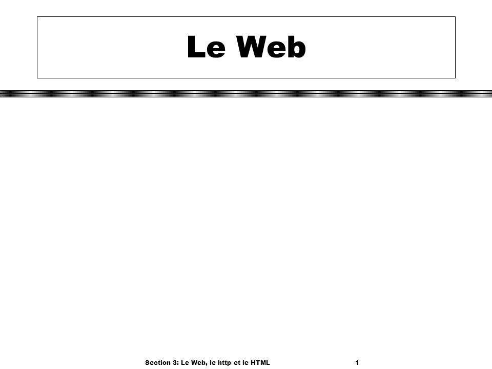 Section 3: Le Web, le http et le HTML1 Le Web
