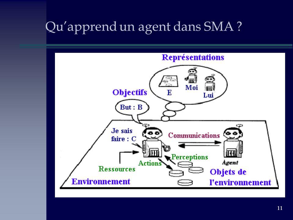 11 Quapprend un agent dans SMA