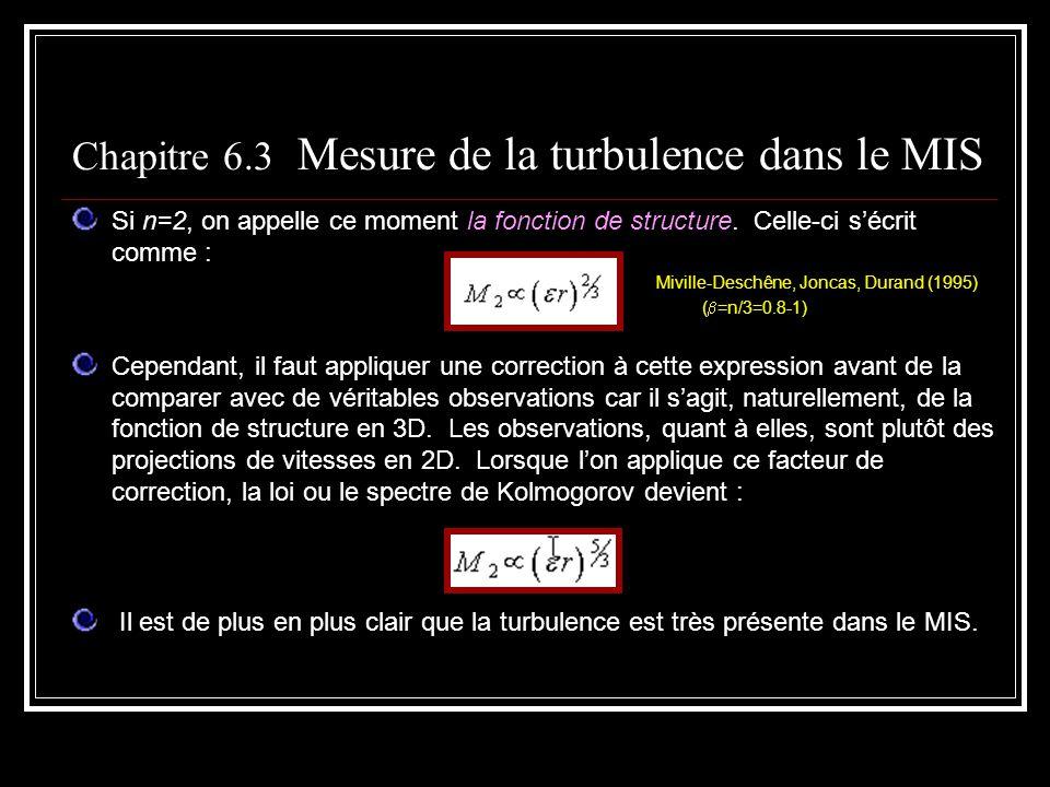 Si n=2, on appelle ce moment la fonction de structure. Celle-ci sécrit comme : Miville-Deschêne, Joncas, Durand (1995) ( =n/3=0.8-1) Cependant, il fau