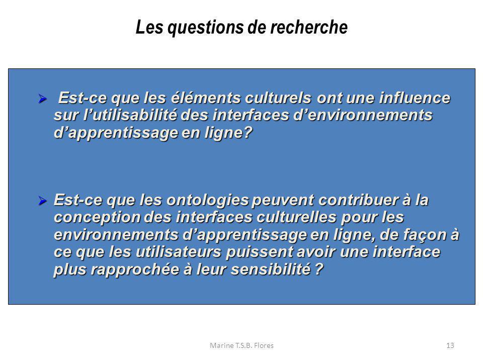 Marine T.S.B. Flores13 Est-ce que les éléments culturels ont une influence sur lutilisabilité des interfaces denvironnements dapprentissage en ligne?