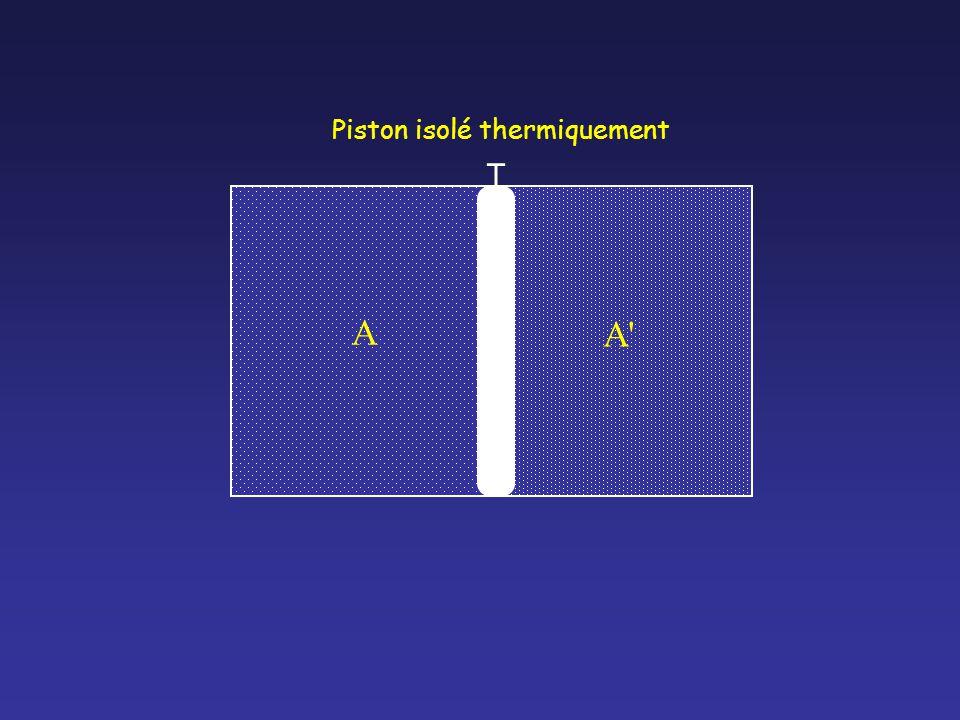A A A Piston isolé thermiquement T