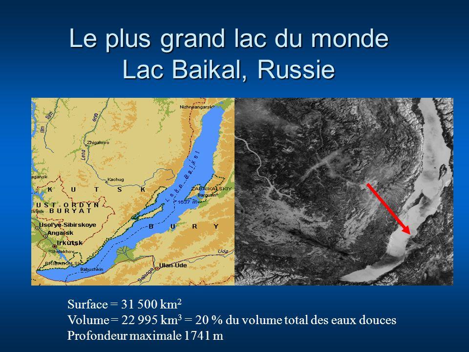 Les Grands Lacs américains Les Grands Lacs 245 240 km 2 22 807 km 3 Lac Supérieur 82 800 km 2 12 230 km 3 Prof: 407 m L.