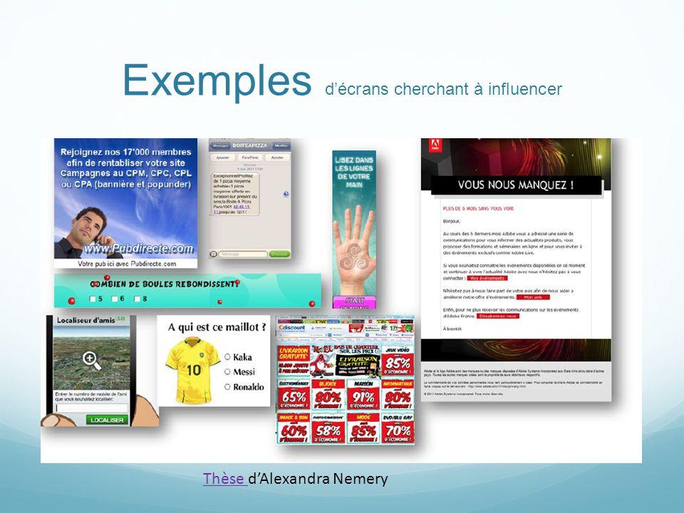 Exemples décrans cherchant à influencer Thèse Thèse dAlexandra Nemery
