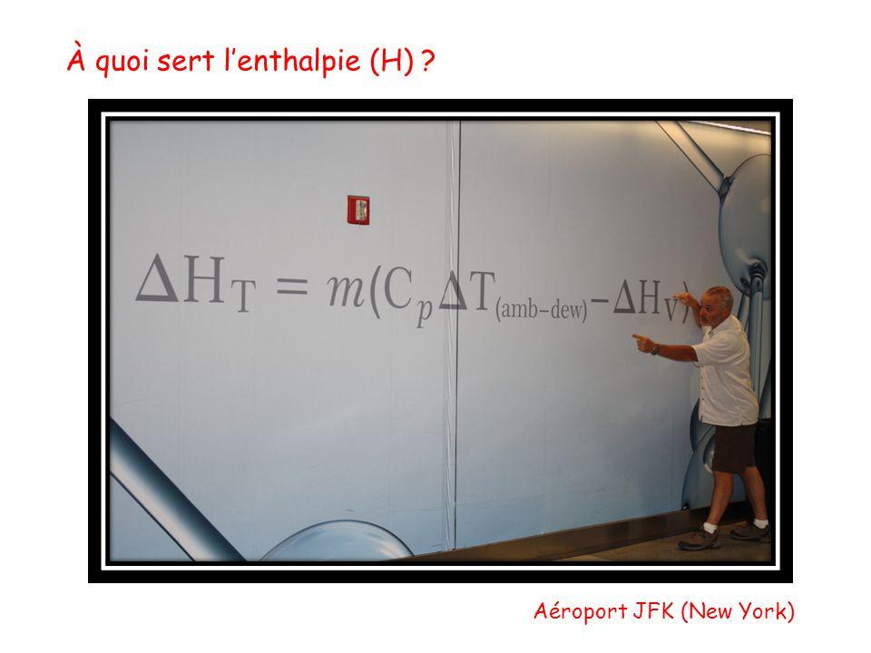 À quoi sert lenthalpie (H) ? Aéroport JFK (New York)