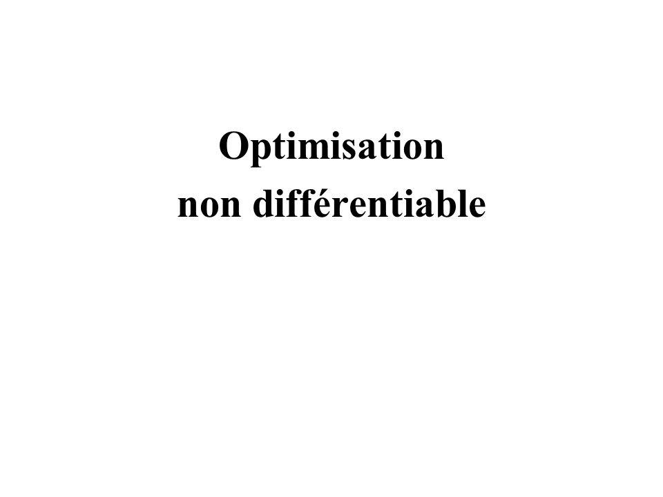 Optimisation non différentiable