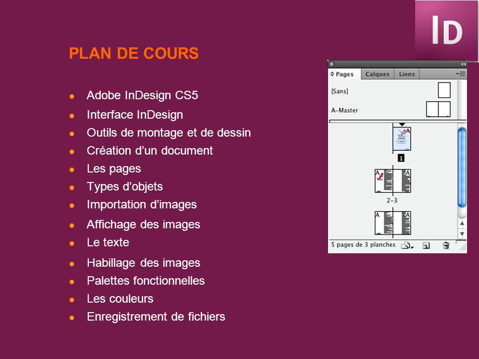 INTERFACE INDESIGN CS Mise en page: Montage de bloc de textes, des images, dentêtes.