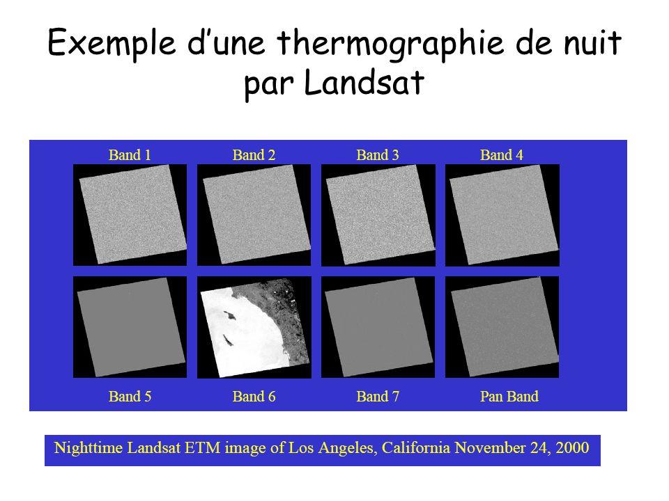 Exemple dune thermographie de nuit par Landsat